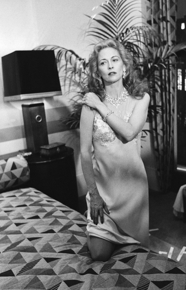 "Faye Dunaway, as Eva Peron in the TV movie ""Evita Peron,"" during taping and photo session in Los Angeles, Nov. 21, 1980. The jewels in Miss Dunaway's necklace, bracelet, and earrings are real, including diamonds all perfect stones totalling about 270 carats and valued at more than $13 million."