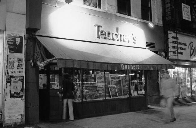 Teacher's restaurant on Manhattan's Upper West Side, Nov. 27, 1980, where, according to a story in the New York Times, fugitive Weather Underground leader Bernardine Dohrn may have been employed. The Times report says a woman who has lived in New York for two years has been identified as Dohrn by neighbors, co-workers and employers from photos in newspapers and on television. Dohrn and another former radical leader, William Ayers, were recently reported to be preparing to turn themselves in to authorities in Chicago.