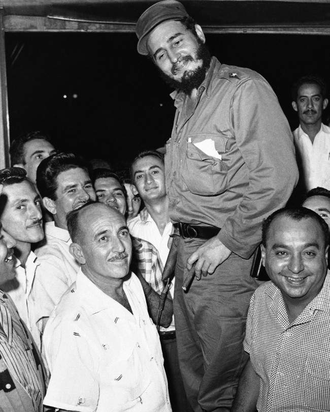 Fidel Castro in a village in Eastern Cuba. Castro had refused to strike pose atop coffee shop table in Havana, Cuba on Feb. 14, 1959.