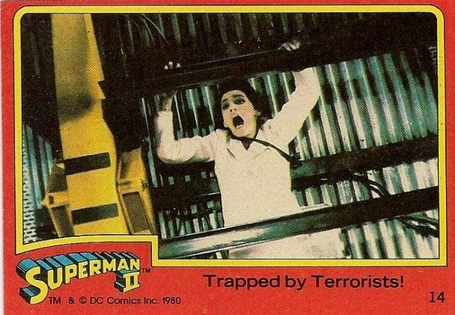 Superman II the movie lot 4 Topps Trading Cards 1980
