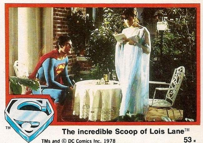 Superman the movie lot 4 Topps Trading Cards 1978