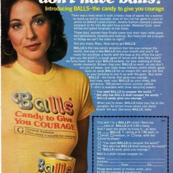 Vintage Sexism: BALLS – 'Candy To Give You Courage'