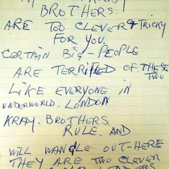 August 1966 – Police Receive This Anonymous Letter About The Krays