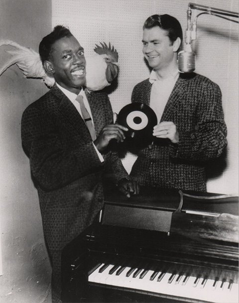 Roscoe and Sam Phillips, founder of Sun records