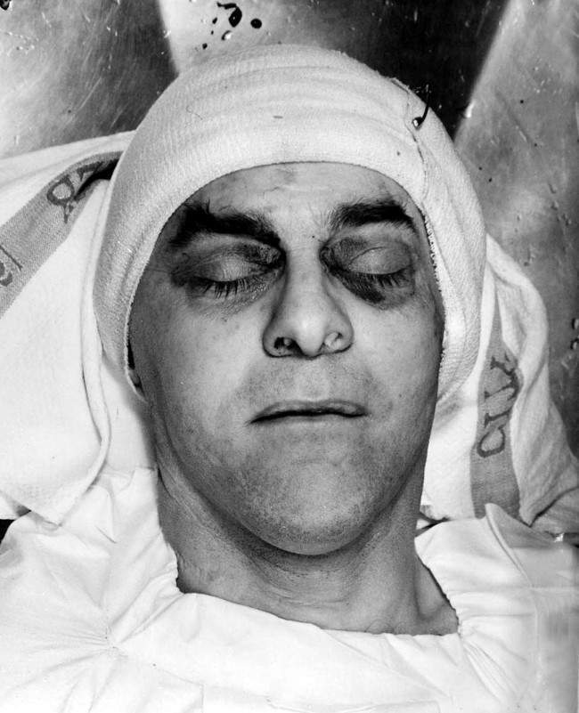 A police photograph of the dead man George Cornell who was killed at the Blind Beggar public house in Whitechapel. Kirsty Wigglesworth/PA Archive/Press Association Images