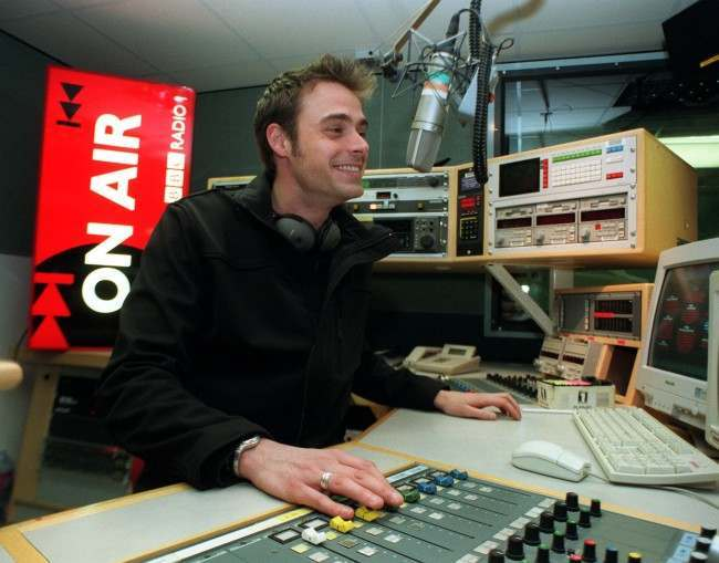 'Live & Kicking' presenter Jamie Theakston gets to grips with his new job, after he signed up to take over the BBC Radio 1 Sunday lunchtime show vacated by outgoing DJ Lisa I'Anson. Theakston, 27, will present the Sunday lunchtime show from April 4.