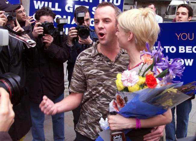 Radio One DJ Zoe Ball with husband Norman Cook aka Fat Boy Slim, leaves BBC Broadcasting House in London after broadcasting her Breakfast Show for the last time Friday. Date: 10/03/2000