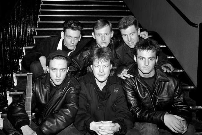 Scottish pop group Wet Wet Wet with disc jockey Bruno Brookes, before being named as the winner of the Radio One Best Newcomer Award at the British Record Industry Awards at the Royal Albert Hall. Date: 08/02/1988