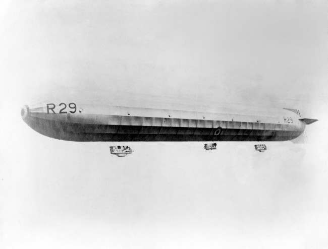 The R29 Airship in flight in 1919.