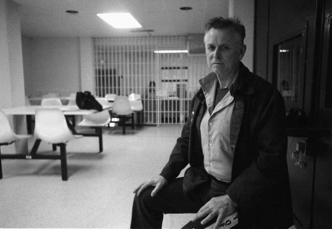 "James Earl Ray shown during an interview at the Brushy Mountain State Prison in Petros, Tenn., March 31, 1988. Ray has spent most of his ""free time"" at the prison plotting ways to get out, either by going over the wall or into a courtroom. But while Ray has had some small success escaping Brushy Mountain, the 60-year-old Alton, Ill., native hasn't been able to get back into court since March 10, 1969, the day he pleaded guilty to killing the Rev. Martin Luther King Jr."
