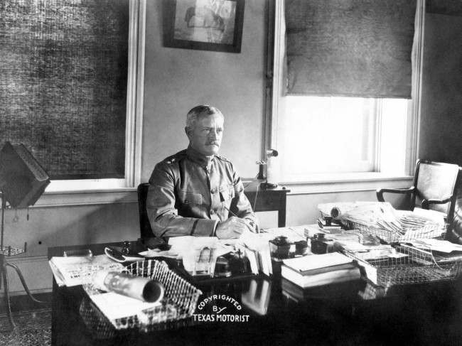 General Pershing, Commander in Chief of the American troops in France. Date: 01/01/1917