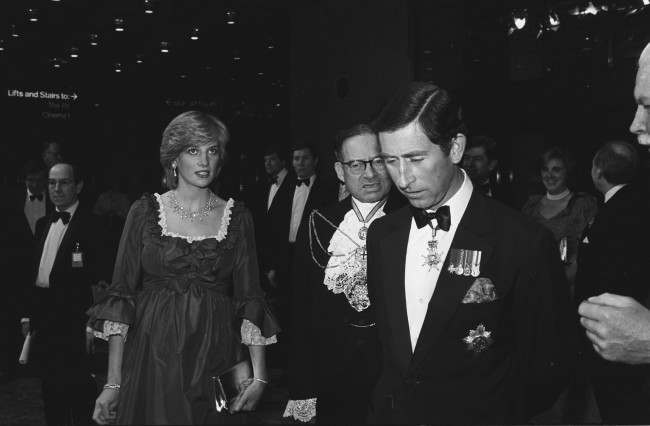The Princess of Wales, who is expectant a baby in the summer, arrives at the Barbican Centre with Prince Charles to attend a Royal Gala concert in aid of the Order of St John and the Prince's Trust. *Low res scan - hi res version available on request* Date: 04/03/1982
