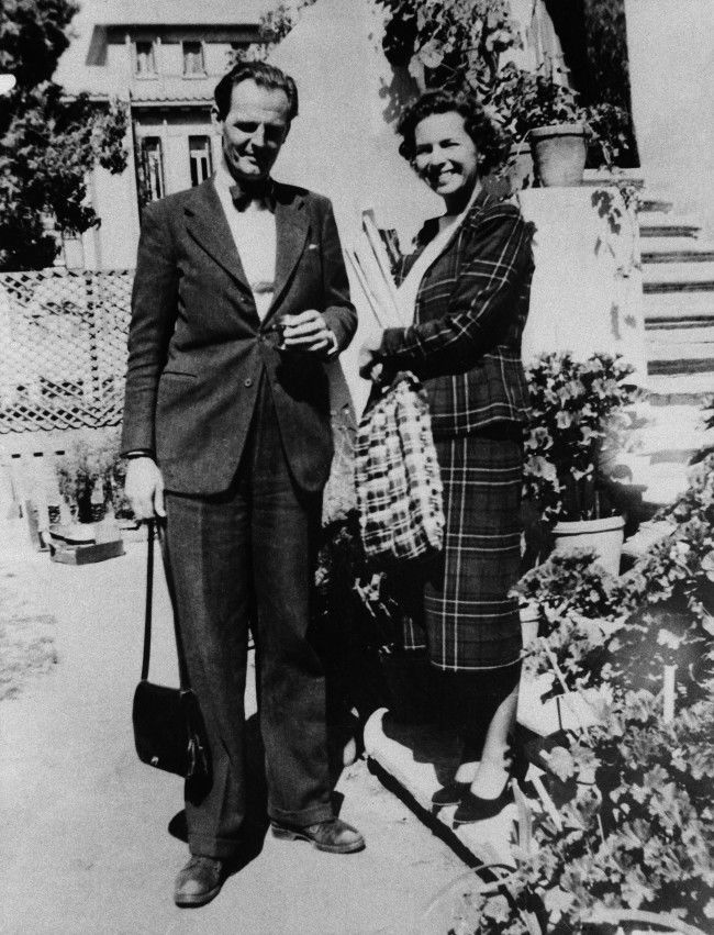 British diplomat Donald MacLean and his wife in Cairo, Egypt, 1949.
