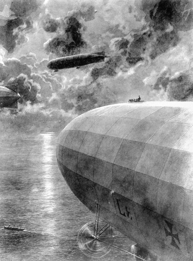 On this day in 1915, the first german Airship raid on the mainland of Great Britain claims 4 lives.