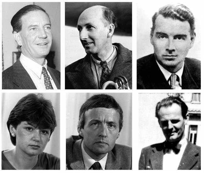"Composite of library files of the famous intelligence 'whistle blowers' (top from left) Harold ""Kim"" Philby, Peter Wright, Guy Burgess (bottom from left) Sarah Tisdall, Clive Ponting and Donald Maclean. British intelligence officer Katharine Gun has had a charge under the Official Secrets Act dropped at the Old Bailey, London, after the prosecution said it would offer no evidence against her. Miss Gun, 29, from Gloucestershire, had been accused of leaking a memo on an alleged American 'dirty tricks' campaign. She was charged under the Official Secrets Act of 1989, accused of disclosing security and intelligence information."