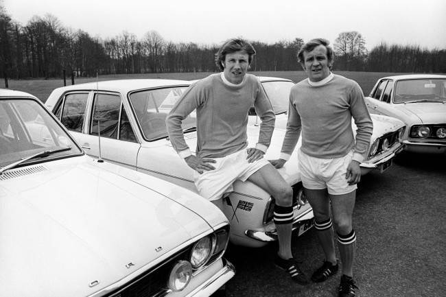 Manchester City and England's Colin Bell (left) and Francis Lee (right)