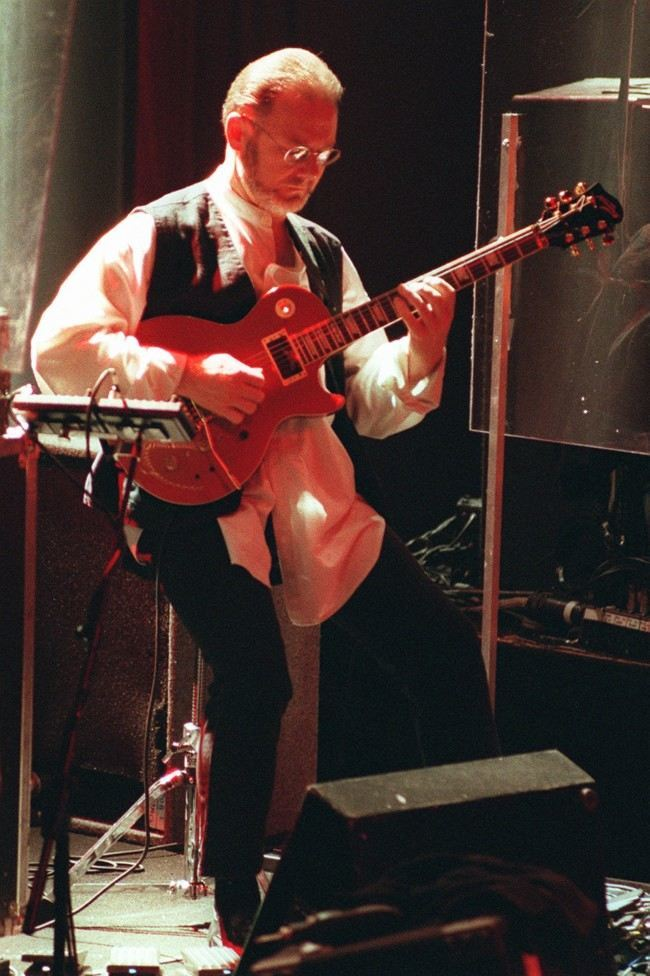 Robert Fripp, of the band King Crimson. Date: 12/06/1996