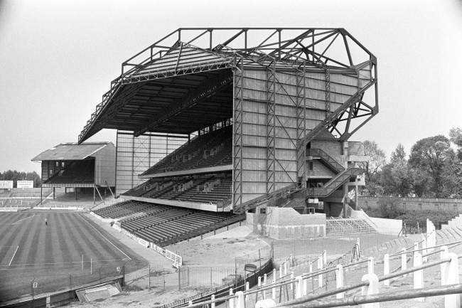 Chelsea's £3m East Stand sits somewhat incongruously next to The Shed Ref #: PA.2469638  Date: 01/08/1976