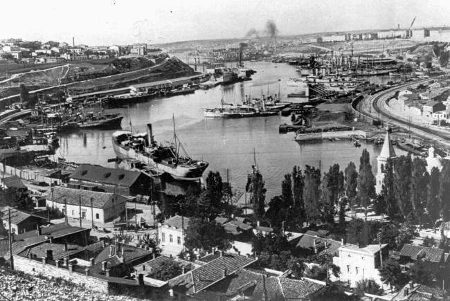A June 11, 1942 photo of Sevastopol, Black Sea port, naval base and Russian stronghold in the Crimea.