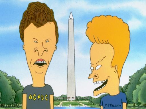 Beavis, Butt-head and a large erection.