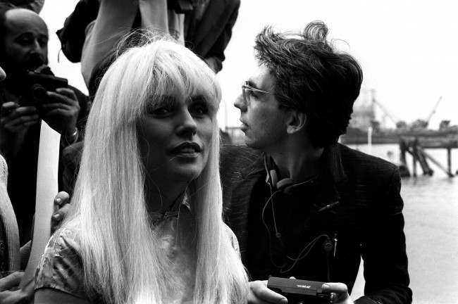 Blondie singer Debbie Harry (l) with her husband, guitarist Chris Stein (r)