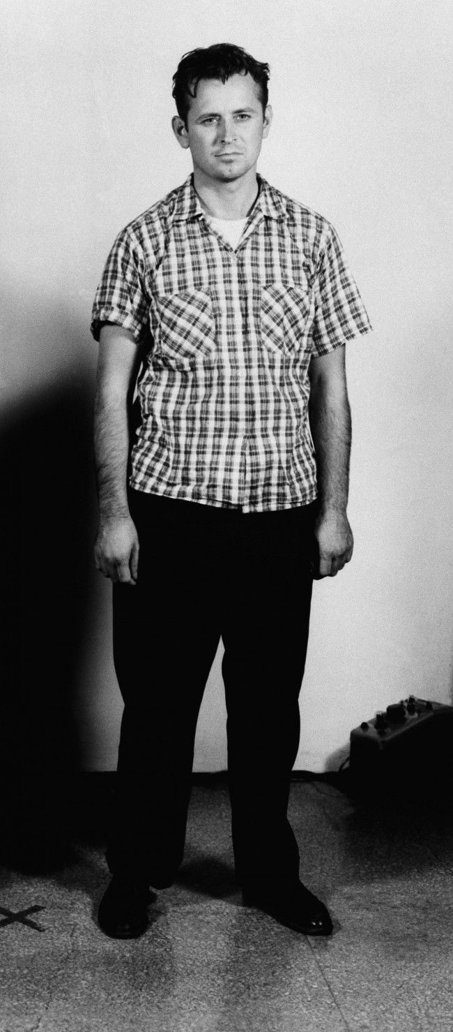 This photograph of James Earl Ray was made at the time he was sentenced to 20 years in prison for armed robbery in St. Louis, Mo., April 19, 1959. He was reported missing from the Missouri penitentiary April 23, 1967. The FBI said today it has identified Eric Starvo Galt, the man wanted in the Killing of Dr. Martin Luther King, Jr.,as James Earl Ray, an escapee from the Missouri penitentiary.