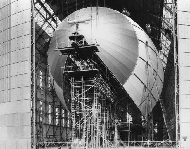 The dirigible Hindenburg is shown in its final stages of construction in Friedrichshafen, Germany, on March 6, 1936. The town of Friedrichshafen became famous as the home of one of aviation's most colorful pioneers _ Count Ferdinand von Zeppelin _ who founded the Zeppelin airship company. His first dirigible flew in 1900, and the company also constructed the ill-fated final ship _ the Hindenburg that crashed in 1937 in Lakehurst, New Jersey.