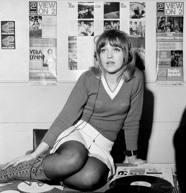 First female Radio 1 DJ Anne Nightingale. Date: 07/01/1970