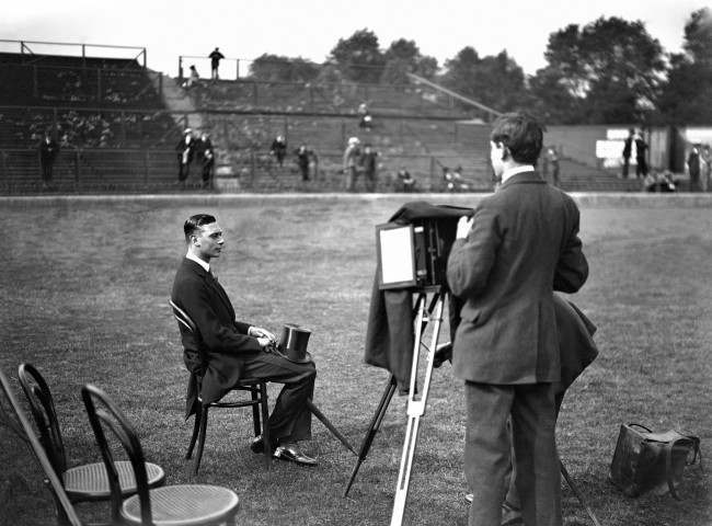 British Royal Family - Prince Albert - 1920 Prince Albert attends the Civil Service Annual Athletic Sports at Stamford Bridge. The Prince poses for his photograph on the athletics field at Stamford Bridge. archive-paL1315 Date: 19/06/1920