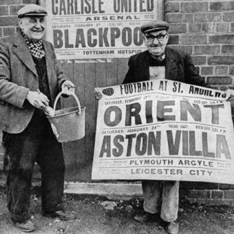 1968: Posters Go Up For Birmingham City V Arsenal, Spurs And The Mighty Orient