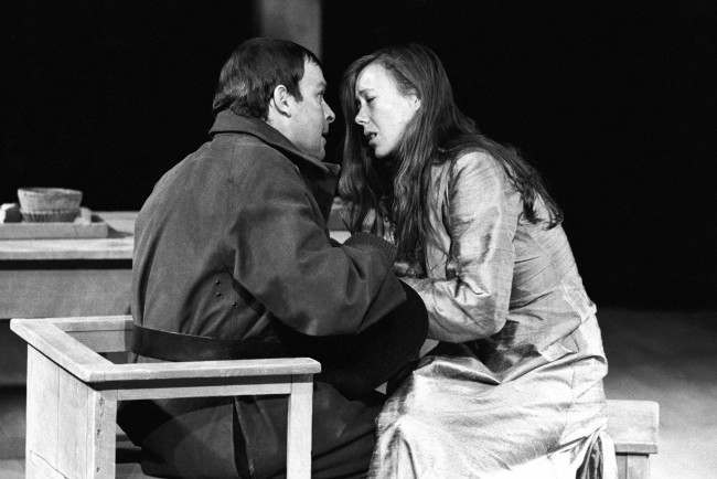 Actress Jenny Agutter in a production of 'Arden of Faversham' with Ian Talbot at the Barbican's Pit theatre.