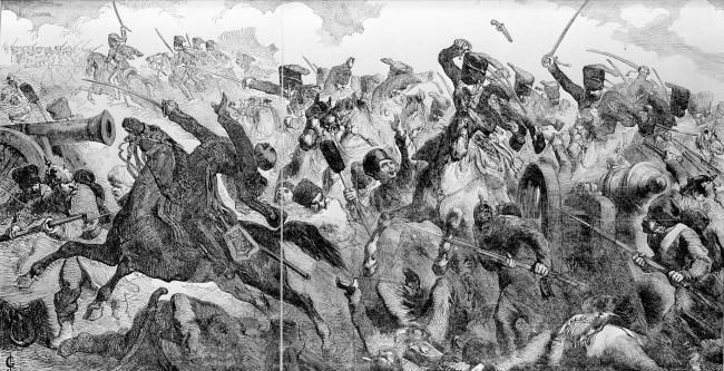 Artist Impression of the Charge of the Light Brigade