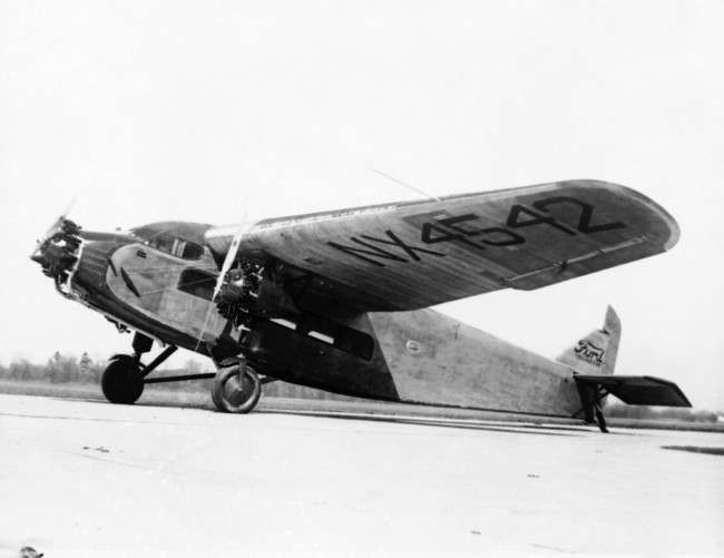 The Giant tri-motored all metal Ford Monoplane shown March 28, 1928, recently completed, which will be used by Commander Richard E. Byrd and his party on their South Pole explorations. The craft is the largest of several to be used by the party.