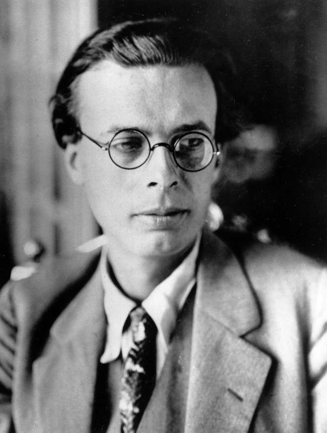 Author Aldous Huxley is seen on Oct. 23, 1928.