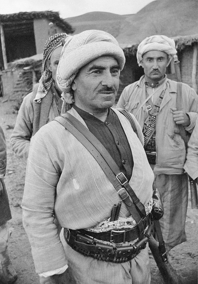 Kurdish rebel leader Mullah Mustafa Barzan, demanding self rule for the Kurdish tribes, is shown at his mountain headquarters in Northern Iraq on March 1, 1963.