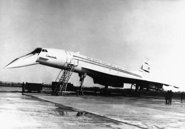 The Concorde, the huge supersonic passenger jet, underwent ground tests at Toulouse, France, Feb. 6, 1968. The tests of the aircraft, a joint of Britain and France, were satisfactory.