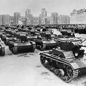May Day 1937: The Red Army Rolls Through Principal Square, Kharkov, Ukraine
