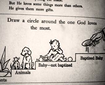 1970s Irish Text Book: 'Draw A Circle Around The One God Loves Most'