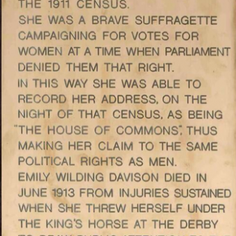 Tony Benn Screwed This Tribute To Suffragette Emily Davison In A House Of Commons Broom Cupboard