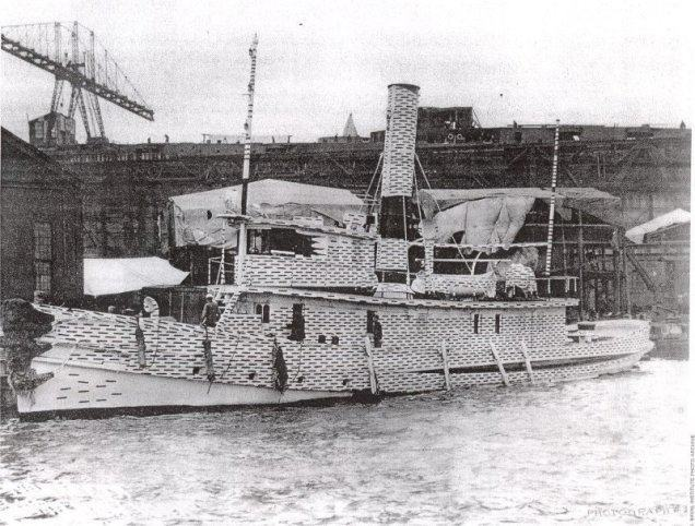 The USS Narkeeta (a Wahneta Class District Harbor Tug, launched in 1892 and decommissioned in 1923.)