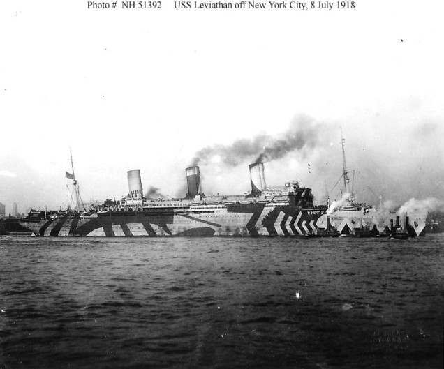 The transatlantic Olympic-class ocean liner RMS Olympic, the brother of the Titanic and Britannic (launched in 1910, used as a troopship between 1915 and 1919. Retired in 1935.)