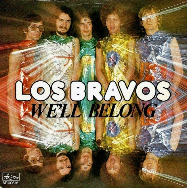 Caption: Los Bravos – We'll Belong (single), Spain (1975)