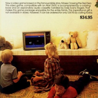 The 1983 Atari 2600 Bible Game Moses 'Red Sea Crossing' Let Christian Kids Play God