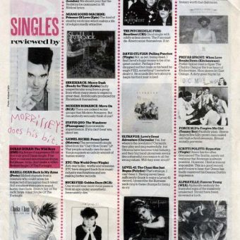 Read Morrisssey's Snippy, Snide And Spot-On Record Reviews For Smash Hits 1984