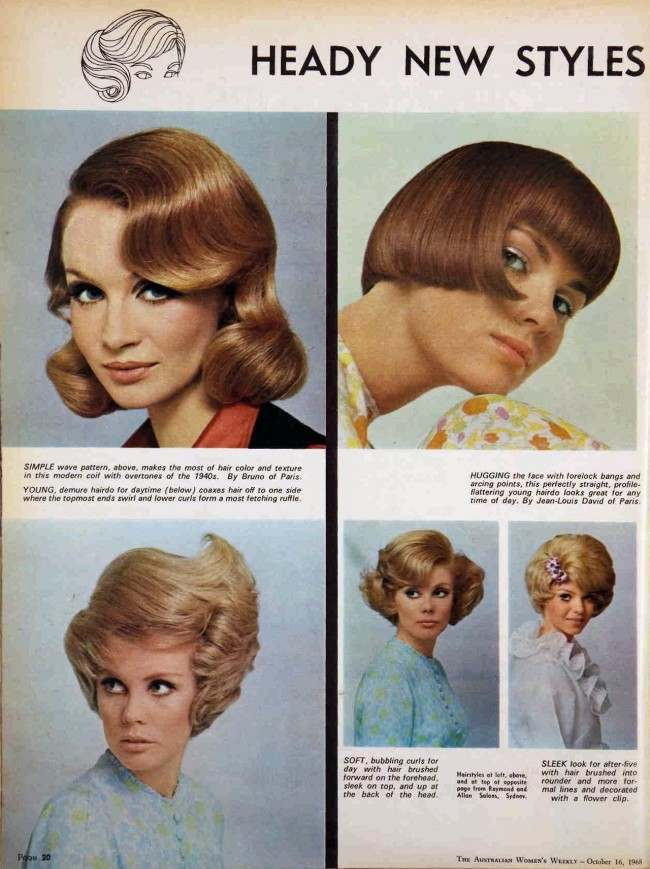 the australian women's weekly hair 1968