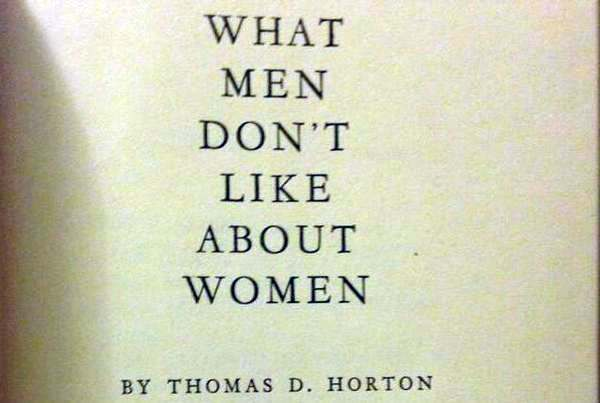 what men don't like about women 1