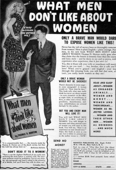 what men don't like about women ad