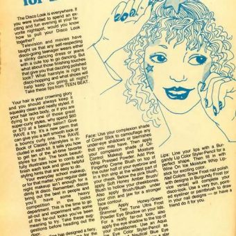 1978: Beauty Tips For the Disco Dancer