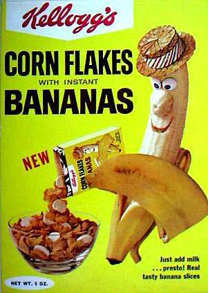 corn flakes bananas