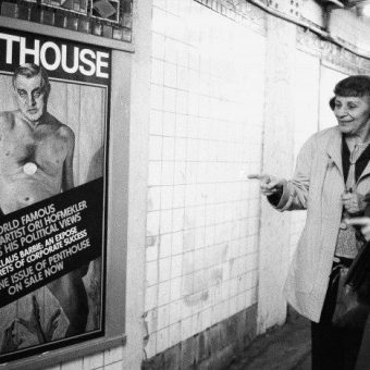 1984: New York Subway Commuters Giggle At Nude Walter Mondale On A Penthouse Magazine Cover